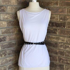 White House Black Market Leather Stretch Belt M